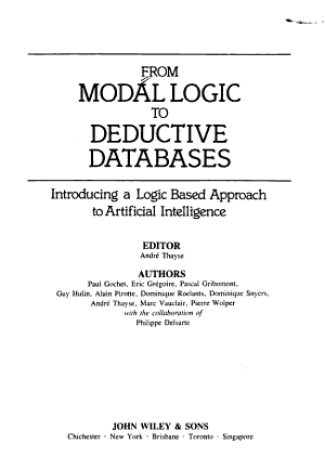 From Modal Logic to Deductive Databases