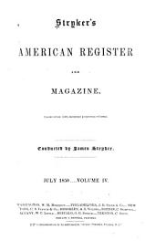 Stryker's American Register and Magazine: Volume 4