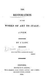 The Restoration of the Works of Art to Italy: A Poem