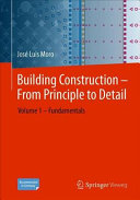 Building Construction     From Principle to Detail