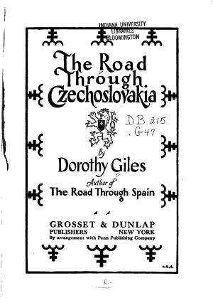 The Road Through Czechoslovakia PDF