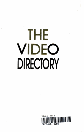 Video Directory  1987 PDF