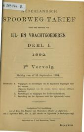 Nederlandsch spoorweg-tarief voor het vervoer van ijl-en vrachtgoederen...