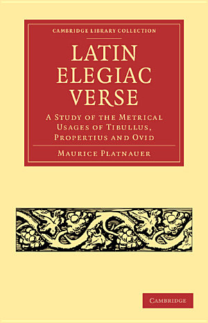 Latin Elegiac Verse