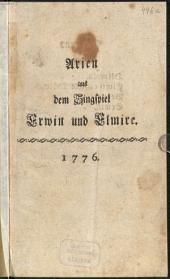Arien aus dem Singspiel Erwin und Elmire