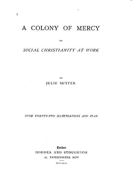 Download A Colony of Mercy Book