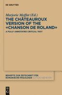 The Châteauroux Version of the «Chanson de Roland»