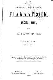 Nederlandsch-Indisch plakaatboek, 1602-1811: Volume 6