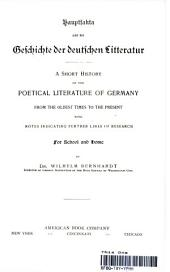 Cauptfarta aud ver Geschichte der deutschen Litteratur-  A Short History of the Poetical Literaature of Gernany.