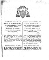 Mandement au sujet de la nomination du premier consul Napoléon, comme empereur des Français: Te Deum à l'église St-Bavon
