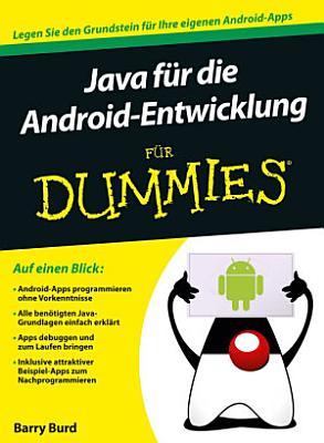 Java f  r die Android Entwicklung f  r Dummies PDF