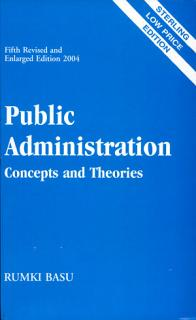 Public Administration  Concepts And Theories Book