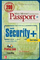 Mike Meyers  CompTIA Security  Certification Passport 3rd Edition  Exam SY0 301  PDF