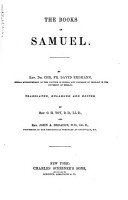 A Commentary on the Holy Scriptures  Samuel PDF