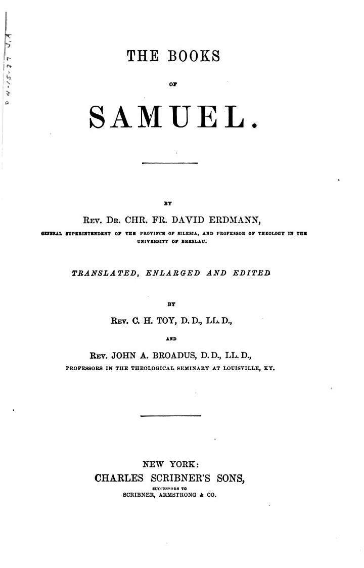 A Commentary on the Holy Scriptures: Samuel