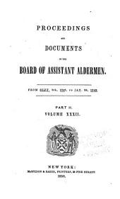 Proceedings of the Board of Assistant Aldermen: Volume 32, Part 2