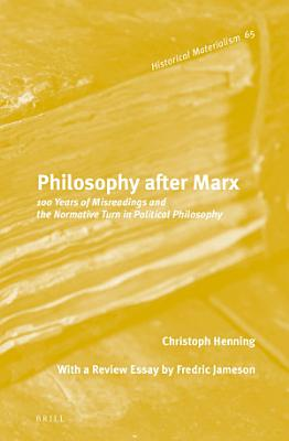 Philosophy after Marx PDF