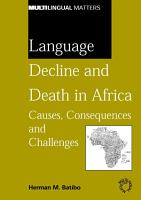 Language Decline and Death in Africa PDF