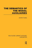 The Semantics of the Modal Auxiliaries
