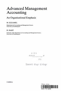 Advanced Management Accounting PDF