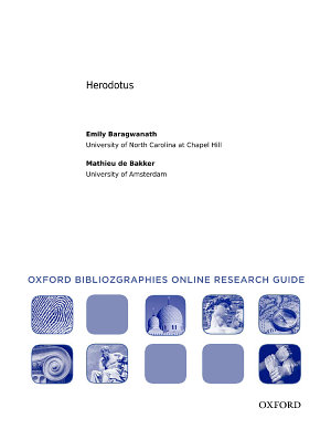 Herodotus  Oxford Bibliographies Online Research Guide PDF