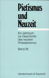 Pietismus und Neuzeit: Bände 28-2002