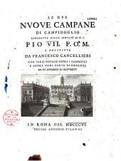 Le due nuove campane di Campidoglio: benedette dalla santità di N. S. Pio VII, P.O.M. e