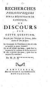 Recherches philosophiques sur la découverte de l'Amérique