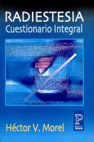 Radiestesia  Cuestionario Integral PDF