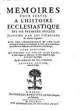 Qui contient les vies de Saint Basile, de Saint Gregoire de Nazianze, de Saint Gregoire de Nysse, & de Saint Amphiloque: Tome Neuvieme [2. ed.]