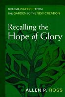 Recalling the Hope of Glory PDF