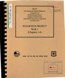 Allegheny National Forest N F Sugar Run Project Book PDF