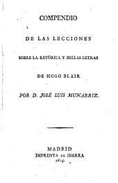 Compendio de la Lecciones sobre la retórica y bellas letras de Hugo Blair