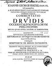 Commentatio de Druidis occidentalium populorum philosophis