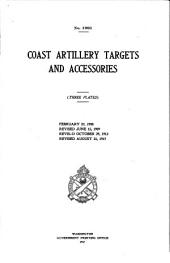 Coast Artillery Targets and Accesories