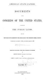 American State Papers: Documents, Legislative and Executive, of the Congress of the United States ..., Part 8, Volume 4