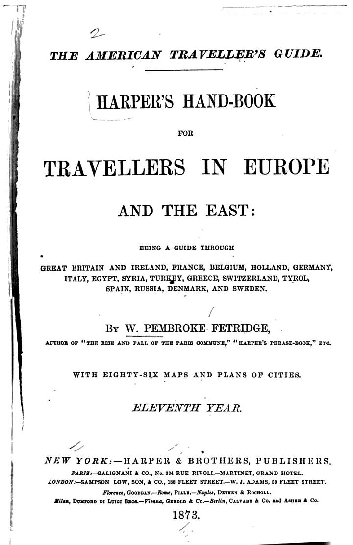 The American Traveller's Guide