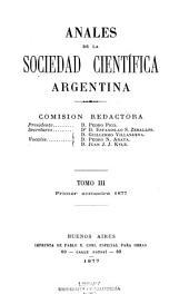 Anales de la Sociedad Científica Argentina: Volumen 3