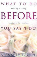 What to Do Before You Say  I Do  PDF