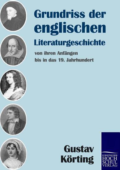 Grundriss der englischen Literaturgeschichte PDF