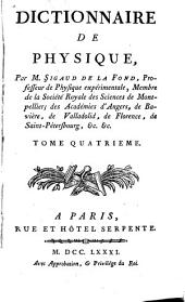 Dictionnaire de physique: Volume4