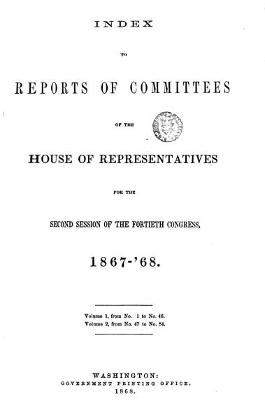 Download Reports of Committees Book