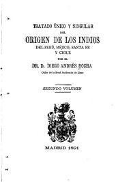 Tratado único y singular del origen de los Indios del Perú, Méjico, Santa Fé y Chile: Volumen 2