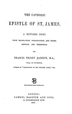 The Catholic Epistle of St  James PDF