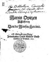 Martin Opitzen Schäfferey Von der Nimfen Hercinie