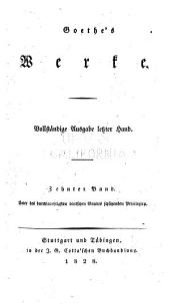 Goethe's werke: Band 10