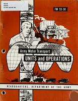 Army Motor Transport Units and Operations PDF