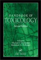 Handbook of Toxicology  Second Edition PDF