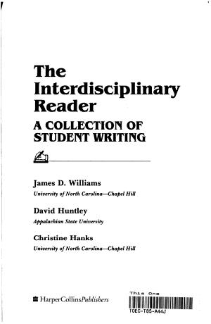 The Interdisciplinary Reader PDF
