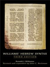 Williams Hebrew Syntax (3rd Edition)